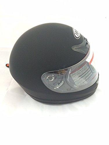 HHH - SmartDealsNow DOT ADULT FULL FACE Helmet for MOTORCYCLE ATV Motocross MX Racing Offroad Dirtbike Chopper Street bike Flat Matte Black Gray Blue Helmet EXTRA LARGE MATTE BLACK
