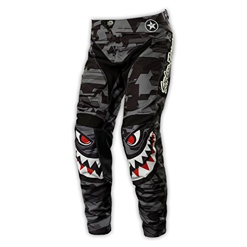 Troy Lee Designs Gp P-51 Youth Boys Motocross/off-road/dirt Bike Motorcycle Pants - Gray / Size 28