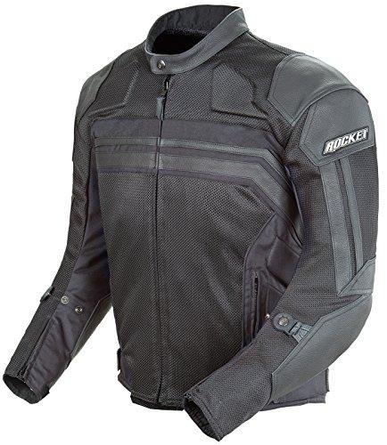 Joe Rocket Reactor 3 Men's Mesh And Leather Motorcycle Jacket (black/black, Medium)