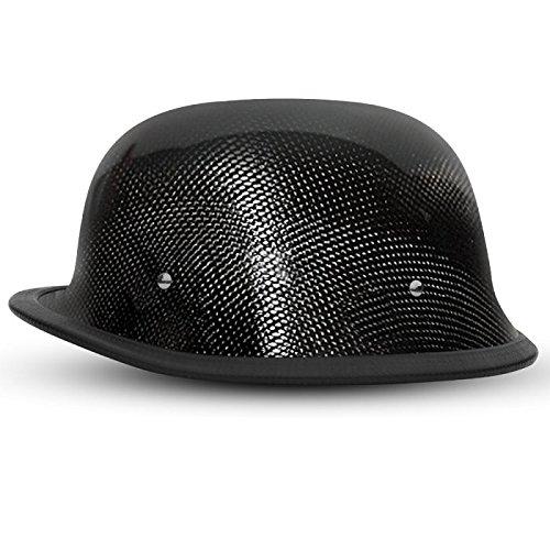 DOT Gray Carbon Fiber German Motorcycle Helmet Size XL X-Large