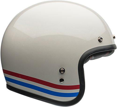 Bell Custom 500 Classic Helmet - Stripes Pearl White - Small