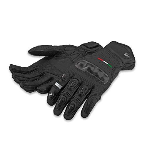 Ducati 981024604 Diavel Leather Gloves-Black - Medium