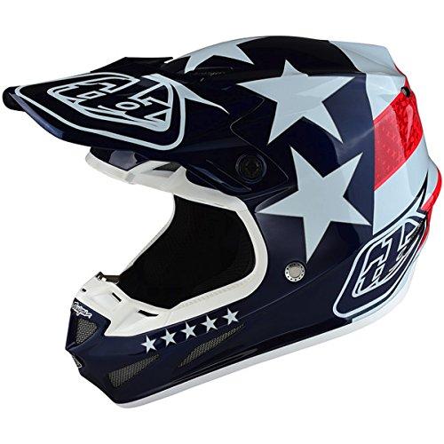 2017 Troy Lee Designs SE4 Composite Freedom Helmet-Blue-XL