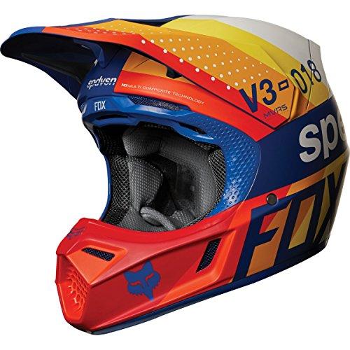 2018 Fox Racing V3 Draftr Helmet-Blue-XL