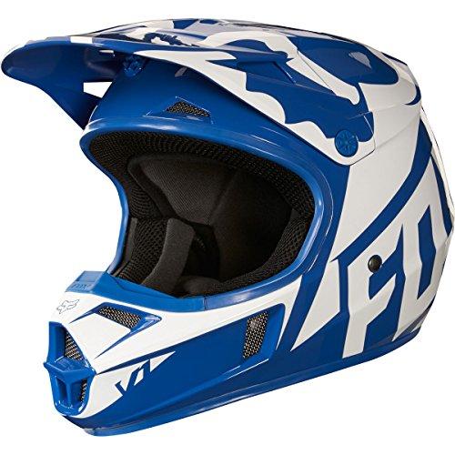 2018 Fox Racing Youth V1 Race Helmet-Blue-YL
