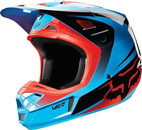 Fox Racing Imperial Mens V2 Motocross Motorcycle Helmet - Blue  X-Large