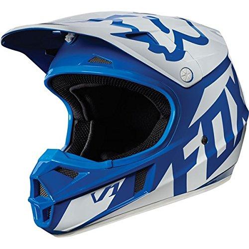 Fox Racing Race Youth V1 Motocross Motorcycle Helmet - Blue  Medium