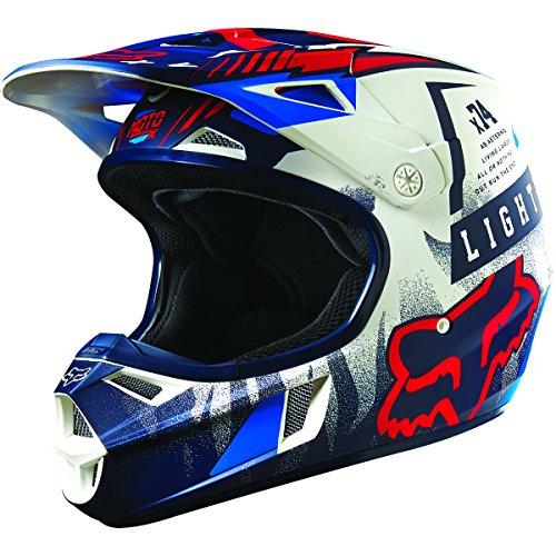 Fox Racing Vicious Youth V1 Motocross Motorcycle Helmet - BlueWhite  Small