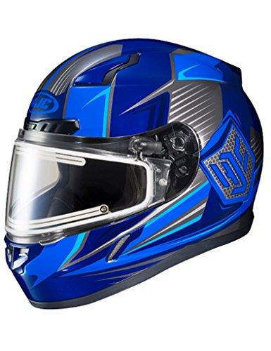 HJC CL-17 Striker Electric Shield Snowmobile Helmet - Blue - 2X-Large