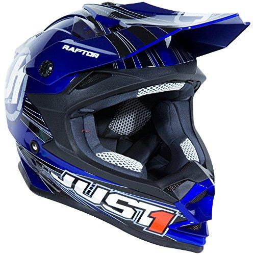 Just 1 J32 Raptor Motocross Helmet Blue Youth Small