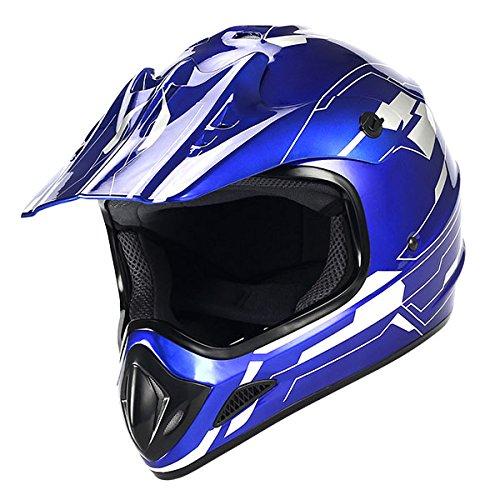 New Motocross ATV Dirt Bike BMX MX Adult Racing Speedy Helmet Blue