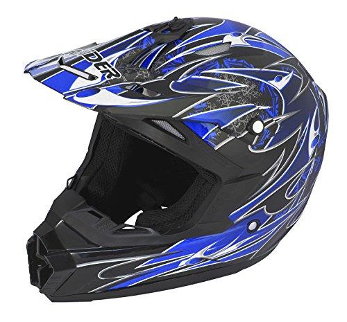 Raider Wildfire MX Helmet Blue Medium