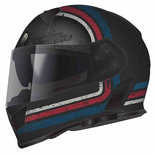 Torc T14B Blinc Loaded Streamline Mako Full Face Helmet BlueRedGrey with Graphic X-Large