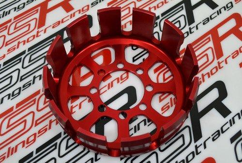 New Red Ducati Sport Classic GT1000 Supersport Billet Aluminum Dry Clutch Basket
