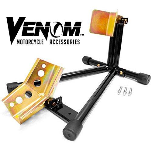 Venom® Universal Motorcycle Wheel Tire Chock Self-locking Bike Stand Chocks For Harley Davidson, Yamaha, Honda