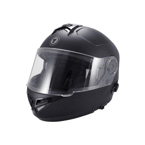 TORC T27 Full Face Modular Helmet with Integrated Blinc Bluetooth Flat Black Medium