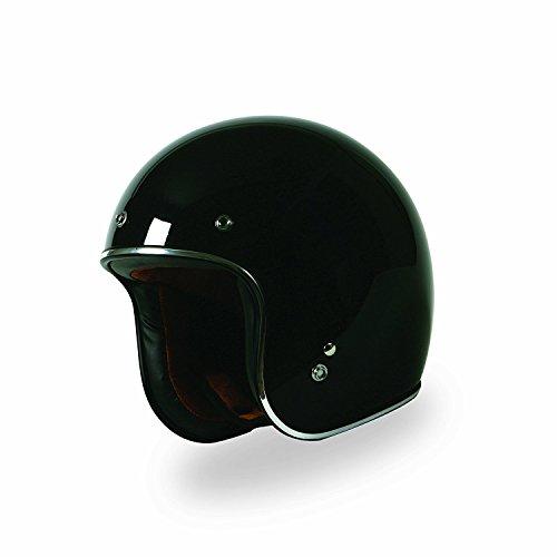 Torc Solid 34 Adult Route 66 T-50 Harley Touring Motorcycle Helmet - Black  Medium