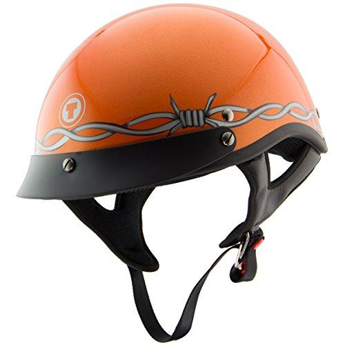 Torc T-53 Black Hills Barbwire Glossy Orange Half Helmet - 2X-Large