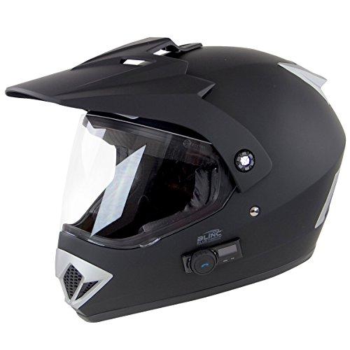 Torc TB-37 Adventour Flat Black Bluetooth Helmet - X-Small