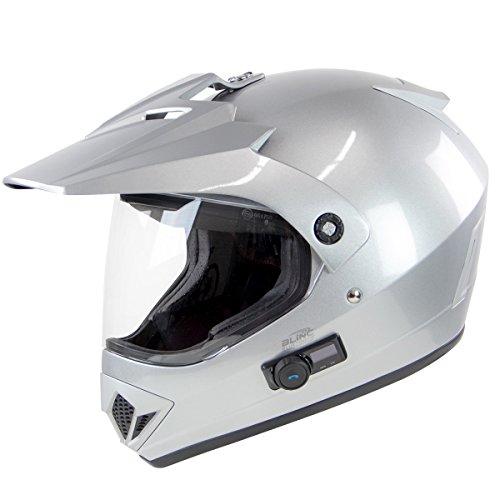 Torc TB-37 Adventour Silver Bluetooth Helmet - X-Small