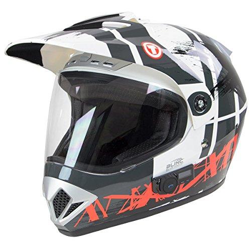 Torc TB-37 Adventour White Dark Usa Bluetooth Helmet - 2X-Large