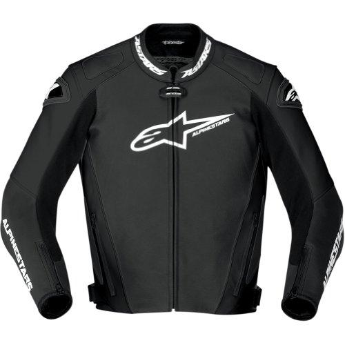 Alpinestars Gp Pro Men's Leather Street Bike Racing Motorcycle Jacket - Black / Size 48