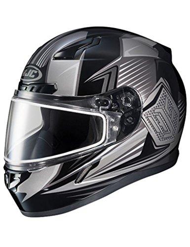 HJC CL-17 Striker Mens Snowmobile Helmets - Black - Small