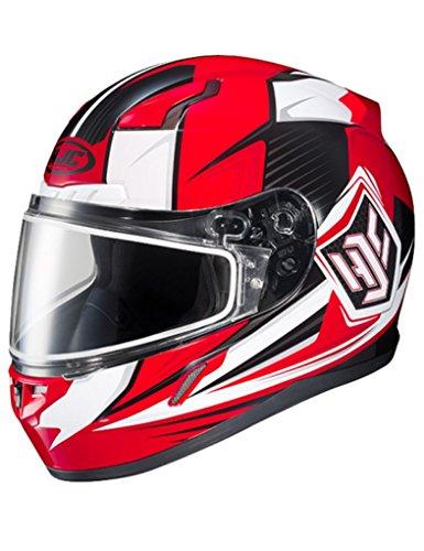HJC CL-17 Striker Mens Snowmobile Helmets - Red - Large