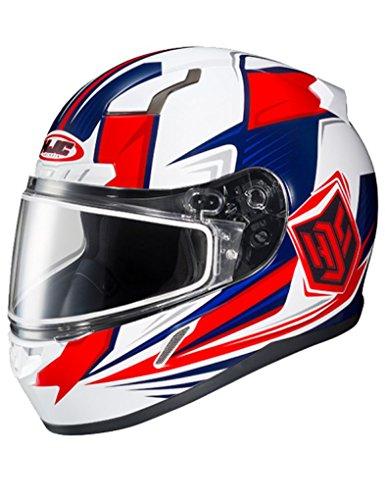 HJC CL-17 Striker Mens Snowmobile Helmets - RedWhiteBlue - Large