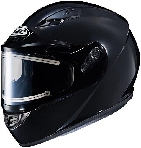HJC CS-R3 Solid Electric Mens Snowmobile Helmets - Black - Small
