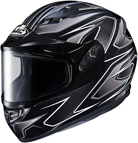 HJC CS-R3 Spike Mens Snowmobile Helmets - Black - 2X-Large