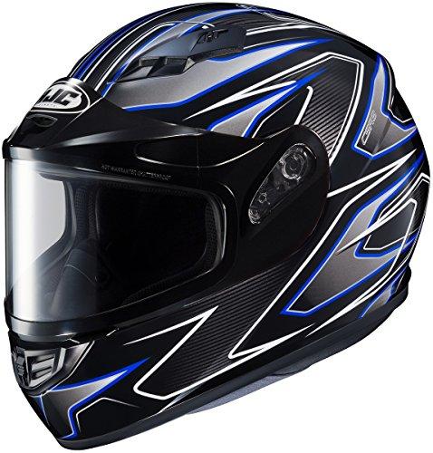HJC CS-R3 Spike Mens Snowmobile Helmets - Blue - Small