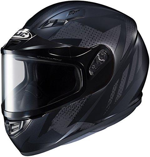 HJC CS-R3 Treague Mens Snowmobile Helmets - Black - Small