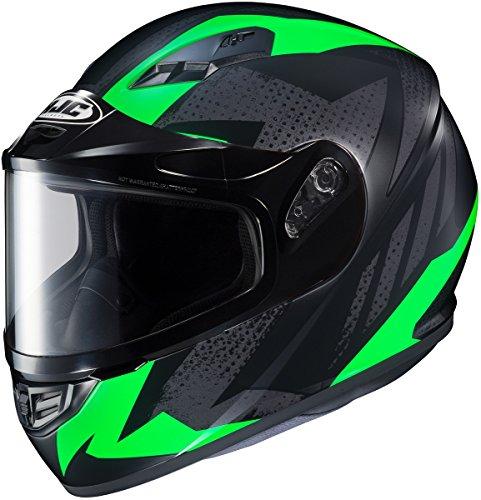 HJC CS-R3 Treague Mens Snowmobile Helmets - Green - 2X-Large