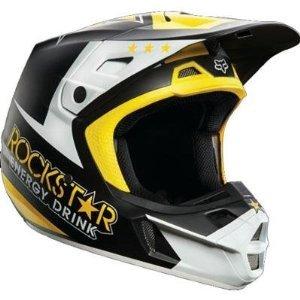 2014 Fox Racing V2 Rockstar Helmet S BlackWhite