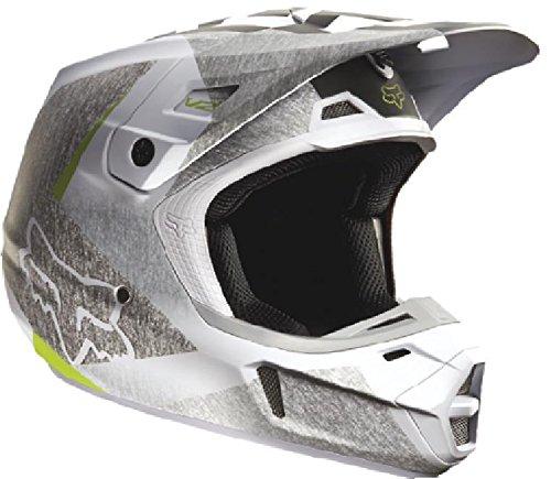 Fox Racing Drezden Mens V2 Motocross Motorcycle Helmet - Grey  X-Small