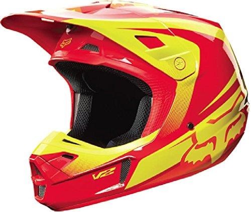 Fox Racing Imperial Mens V2 Motocross Motorcycle Helmet - RedYellow  Large