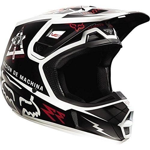 Fox Racing Overseer Mens V2 Off-RoadDirt Bike Motorcycle Helmet - Black  X-Small