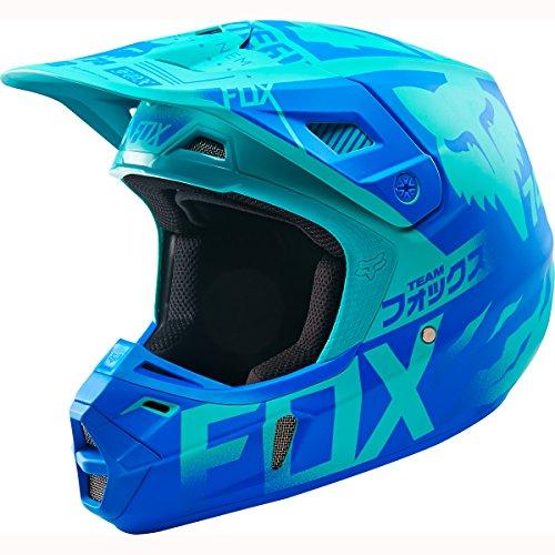 Fox Racing Union LE Mens V2 Motocross Motorcycle Helmet - Aqua  2X-Large