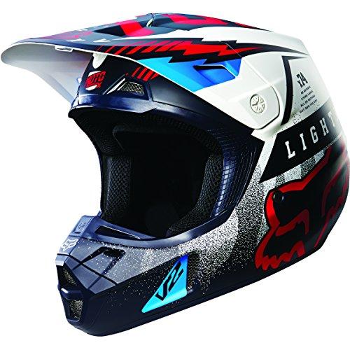 Fox Racing Vicious Mens V2 Motocross Motorcycle Helmet - BlueWhite  X-Large