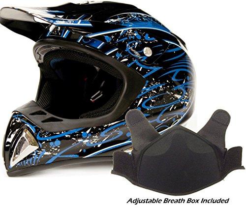 Adult Snocross Snowmobile Helmet - Blue  Medium