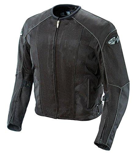 Joe Rocket Phoenix 5.0 Men's Mesh Motorcycle Riding Jacket (black/black, Large)