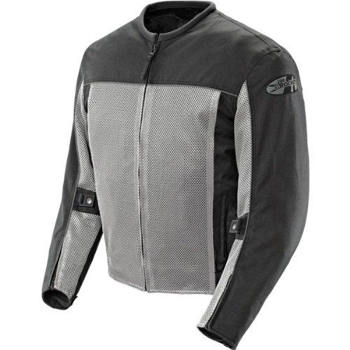 Joe Rocket Velocity Men's Textile Street Racing Motorcycle Jacket - Grey/black / X-large