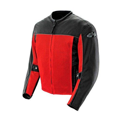 Joe Rocket Velocity Mens Black/red Mesh Motorcycle Jacket - Large