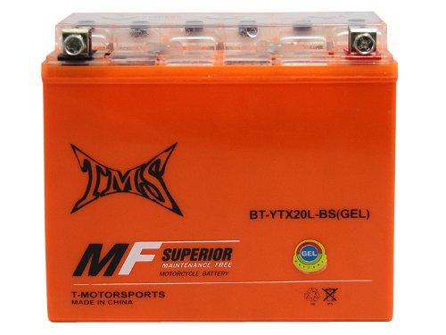 Tms® Gel Battery Ytx20l-bs For Honda Kawasaki Harley Davidson Yamaha Suzuki Kymco Polaris Triumph