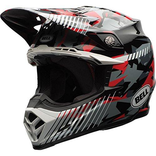 Bell Camo Mens Moto-9 Off-Road Motorcycle Helmet - Red  X-Large