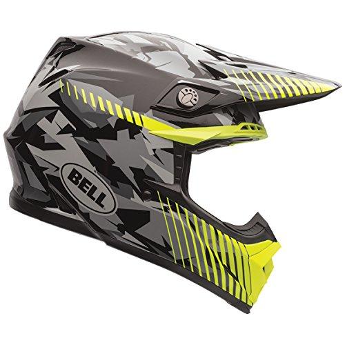 Bell Camo Mens Moto-9 Off-Road Motorcycle Helmet - Yellow  Large
