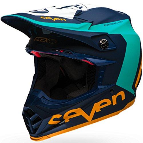 Bell Mens Moto-9 Flex Seven Rogue LE Motorcycle Helmet NvyAq L