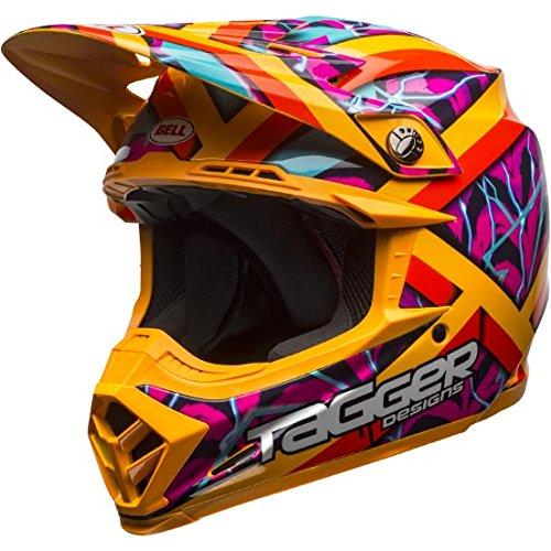 Bell Mens Moto-9 Tagger LE Motorcycle Helmet PnkOrg L
