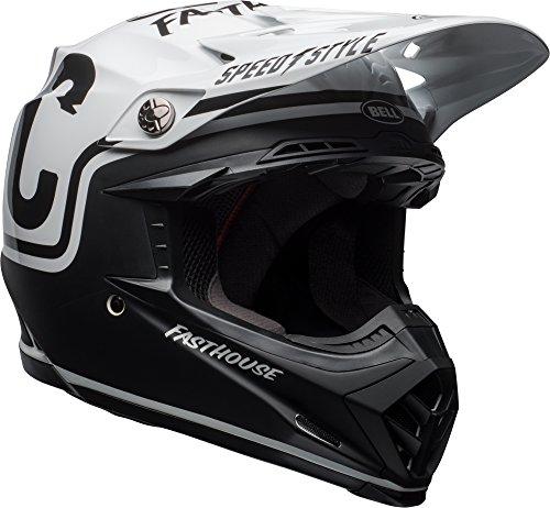 Bell Moto-9 Mips Matte Black White Fasthouse Off Road Motorcycle Helmet Size Medium